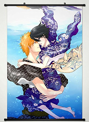 Bleach Ichigo Rukia (Wall Scroll Poster Fabric Painting For Anime BLEACH Kurosaki ichigo & Kuchiki Rukia 316 L)