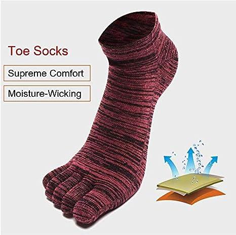 PUTUO Hombre Cinco Dedos Calcetines de Deportes de Algodón, Cinco Calcetines de los Dedos, Eu 39-44, 4 pares: Amazon.es: Ropa y accesorios