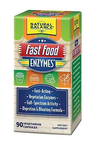Natural Enzymes Foods (Natural Balance Fast Food Enzymes, 90-Capsules)