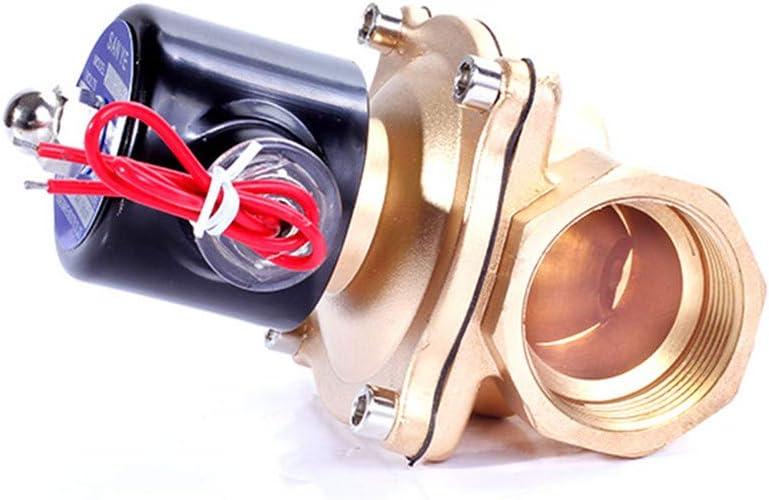 1//4 3//8 1//2 3//4 1 2 Brass Electric Solenoid Valve DC12V DC24V AC220V 110V Normally Closed Solenoid Valve For Water Oil Air