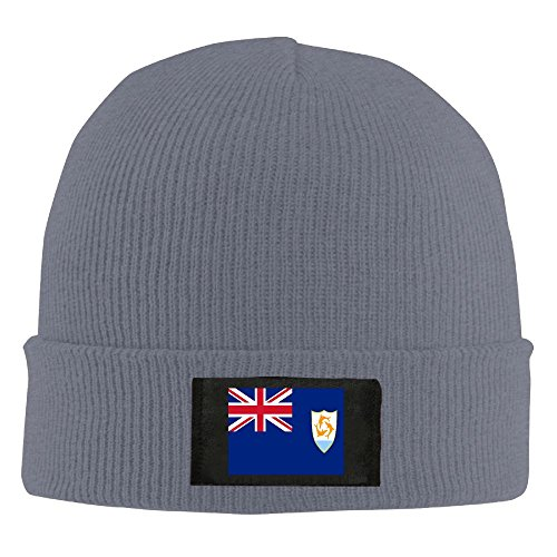 Chuanwang Flag Of Anguilla Men's Warm Winter Hat Knit Beanie Skull Cap Unisex