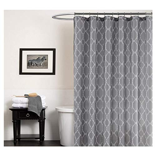 Cryseam Shower Curtains Gray Geometry Pattern for Bathroom Waterproof/Easy Care Polyester Fabric Stall Curtain (72''X72'') by Cryseam
