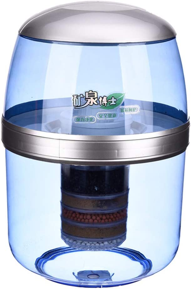 Purificador de agua alcalina, dispensador de agua potable directa, filtro de agua de la encimera sin electricidad: Amazon.es: Hogar