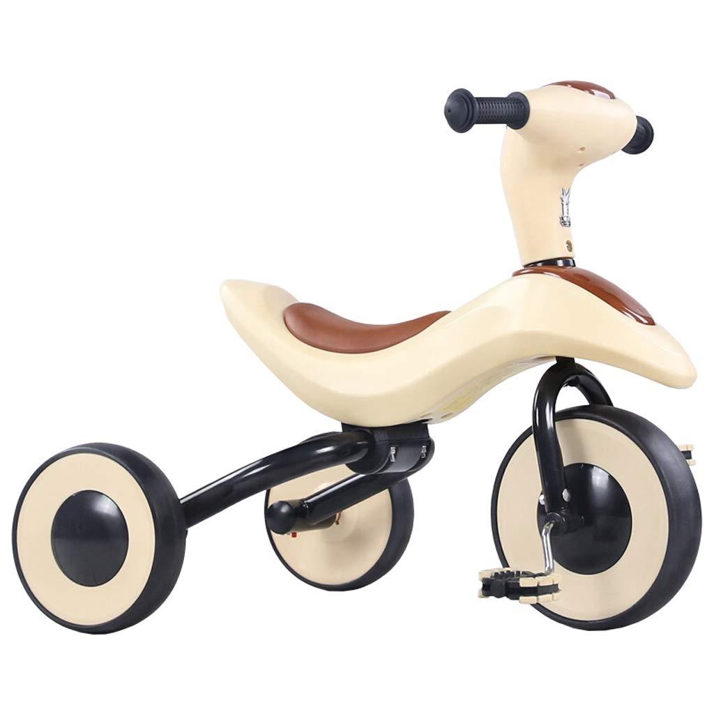 折り畳み式軽量子供の三輪車子供自転車バランスバイクヨーヨー車幼児ベビーウォーカー64 * 52.5 * 39センチブラウン   B07PMN1Y7X