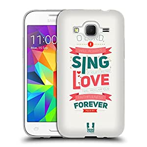 Head Case Designs Sing Famous Bible Verse Soft Gel Back Case Cover for Samsung Galaxy Core Prime G360