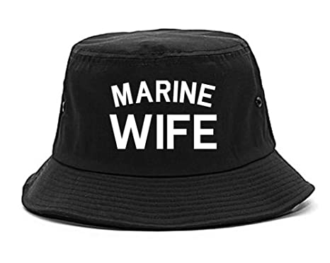 Amazon.com  FASHIONISGREAT Marine Wife Wifey Bucket Hat Black  Clothing 99beff54cf0