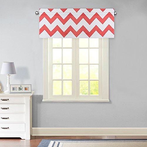 FlamingoP Straight Chevron/Zig-Zag Window Curtain Valance 52