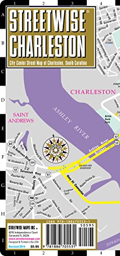 Streetwise Charleston Map - Laminated City Center Street Map of Charleston, South Carolina - Folding pocket size travel map (Best Time To Travel To Charleston Sc)