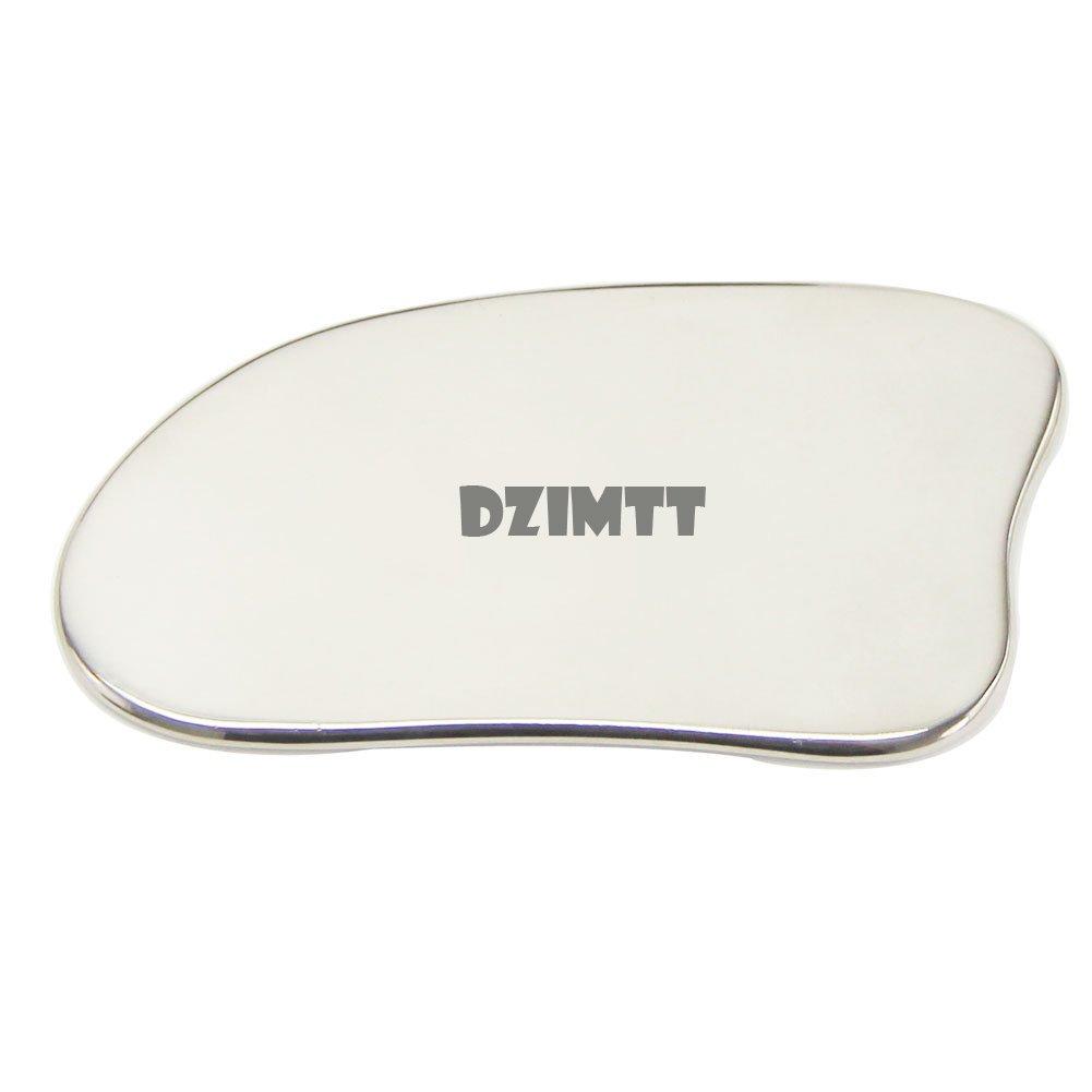 Dzimtt Professional Titanium Massage Gua Sha Tool,Chinese Guasha Scraper, Reduce Wrinkle, Dark Eye Circles and Puffy Eyes