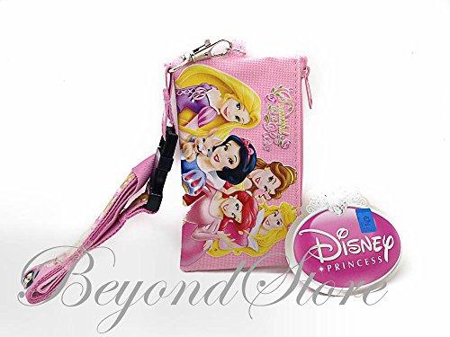 [해외]Disney Princesses Light Pink KeyChain Lanyard Fastpass ID Ticket Holde / Disney Princesses Light Pink KeyChain Lanyard Fastpass ID Ticket Holde