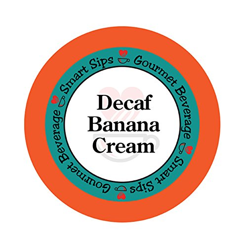 Smart Sips, Decaf Banana Cream Flavored Coffee, 24 Count for All Keurig K-cup Machines, Decaffeinated Flavored Coffee