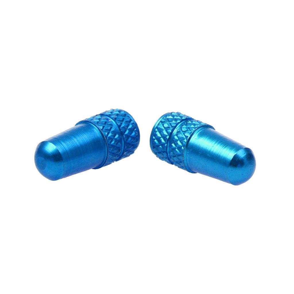 Tapones de v/álvula de colores cuerpo estriado para bicicleta de monta/ña de aleaci/ón de aluminio azul claro antipolvo s/ólidos de cobre