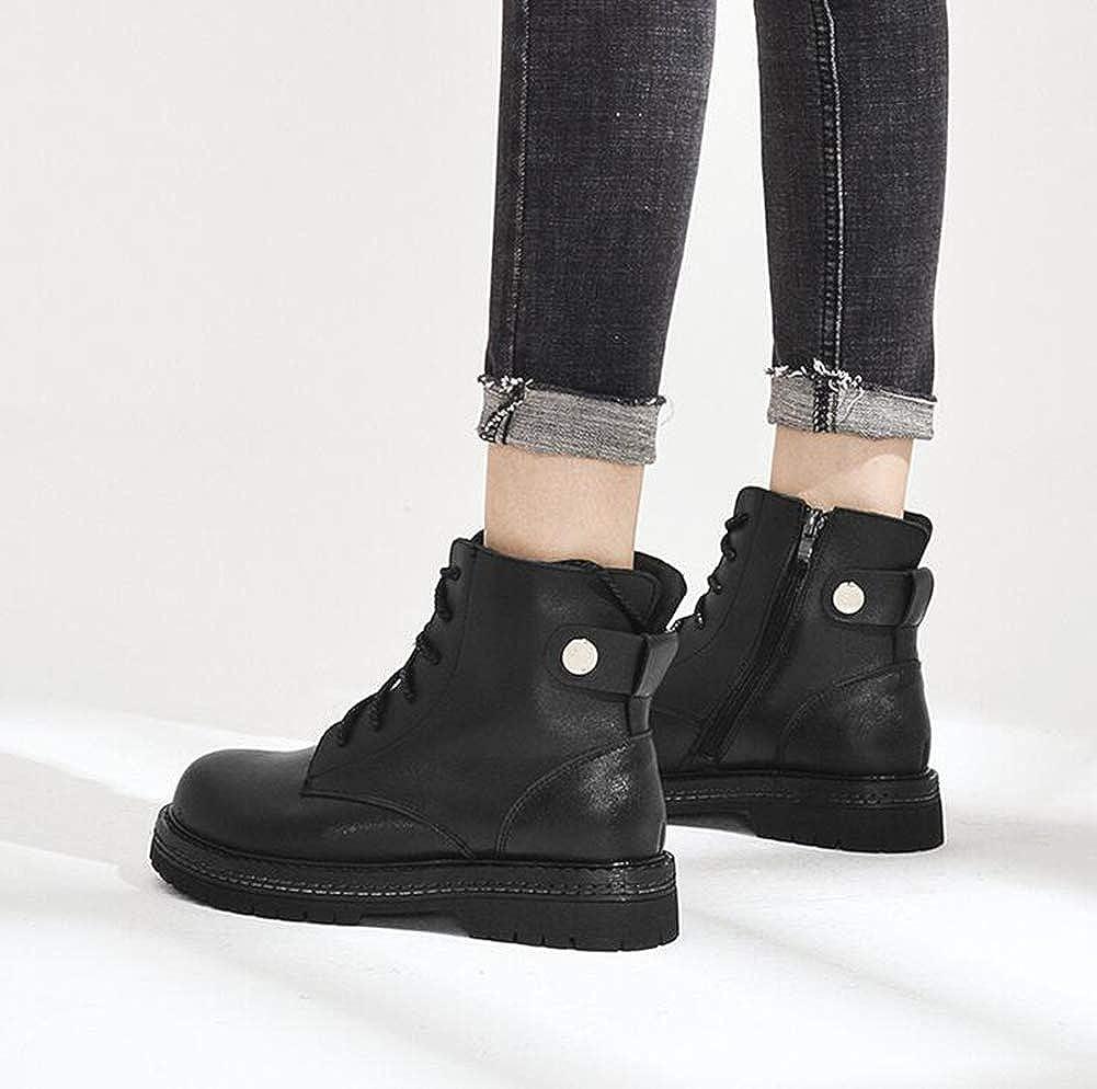 OOFAY Frau Martin Stiefel, High-Top Schuhe, Spitzen Reißverschluss Martin Stiefel, Runde Stiefel, Große Schuhgröße Schwarz