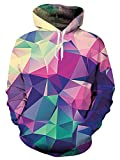 Product review for Idgreatim Unisex 3D Printed Drawstring Hoodies Hooded Pullover Sweatshirt With Pockets