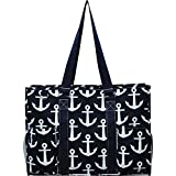 N. Gil All Purpose Organizer 18' Large Utility Tote Bag (Anchor Navy)