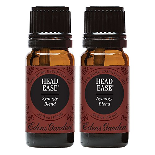 Edens Garden Head Ease Value Pack 100% Pure Therapeutic Grade GC/MS Tested (Lavender, Peppermint, Rosemary, Frankincense, Basil, Chamomile, Ginger, Spearmint, Helichrysum)