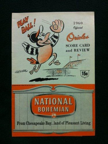1960 BB Program Orioles vs Senators - Unscored AUTOGRAPHED by Triandos Baltimore Orioles Excellent