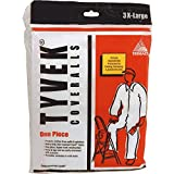 Trimaco 14125 3XL No Elastic Tyvek Coveralls, White
