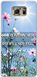 img - for Note 5 Case Bible Verses, Samsung Galaxy Note 5 Case Christian Quotes Themes N9100 God Is Within Her She Will Not Fall Psalm 56:5 Sunshine Pink Flower book / textbook / text book