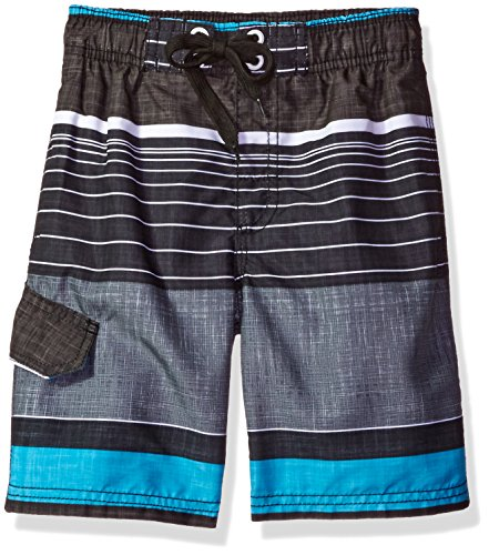 Boys Bathing Suit - Kanu Surf Big Boys' Viper Quick Dry Beach Swim Trunk, Black, Medium (10/12)