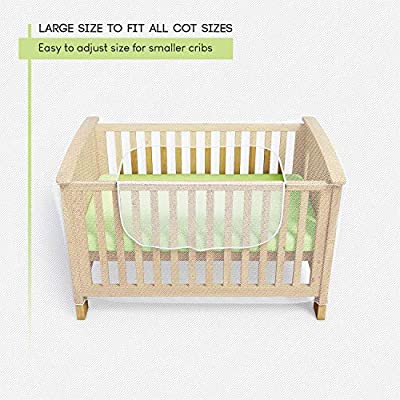 Mosquito Net for Crib - Baby Crib Net to Protect from Insects & Keep Baby in Safely - with Zipper Feature for Quick, Easy Access (by Luigi's)