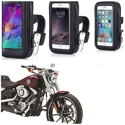 Premium Motorbike Bicycle Tough Mount GPS Holder Handlebar Waterproof Phone Stand: GPS & Navigation