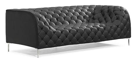 Wondrous Amazon Com English Modern Tufted Club Sofa In Black Lamtechconsult Wood Chair Design Ideas Lamtechconsultcom