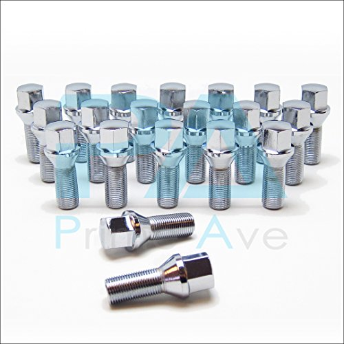 PA (20) Cone Seat Wheel Lug Bolts In Chrome ~ Thread Size 14X1.5 | 27mm Shank | 17mm ()