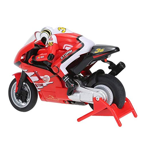 (ElevenY Mini Moto RC Motorcycle Electric High Speed Nitro Remote Control Car Recharge 2.4Ghz Racing Motorbike of Boy Toy Gift - Rechargeable Electric Race Moto for Kids Adults Hobby Toys Gift)