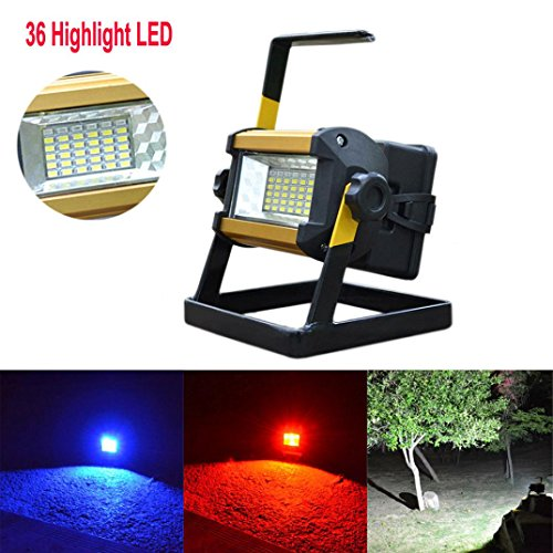 Led Flood Light, Napoo Portable 50W 36 LEDWaterproof Rechargeable Worklight Spot Work Lamp Emergency Light For Outdoor Camping, Working, Fishing by Napoo (Image #6)