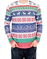 Winter Fresh Houses Pattern Long Sleeve Ugly Christmas T-Shirt