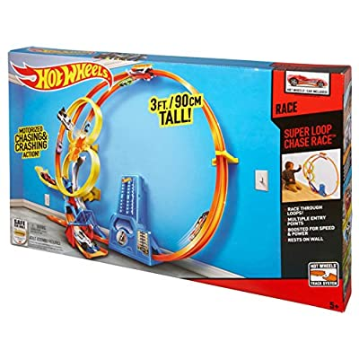 Hot Wheels Super Loop Chase Race Trackset (Discontinued by manufacturer): Toys & Games