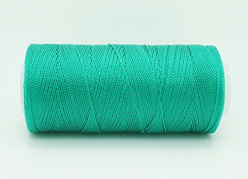 UPC 634304790185, JADE GREEN 0.6mm 100% Nylon Twisted Cord Thread Micro Macrame Beading Knitting Crochet Needle Crafts (300yards Tube)