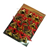 Only Faith 24 pcs Gold Plastic Christmas Small Bells XMAS Tree Ornament Diameter 30mm
