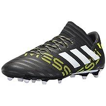 adidas Men's Nemeziz Messi 17.3 Firm Ground Soccer Shoes, Core Black/Footwear White/Solar Yellow
