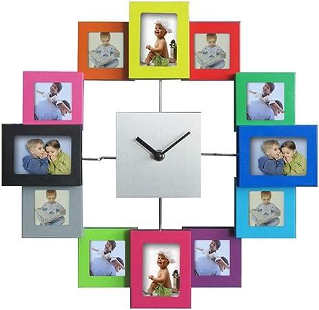 Dzbmy Horloge Murale Pendules Murales Cadre De Photo De 14