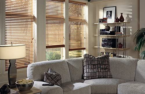 2 Real Wood Blinds, 29W x 36H, Slate, Custom Any Size 24 Wide to 96 Wide and 36 high to 96 high