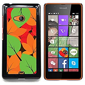 For Microsoft Nokia Lumia 540 N540 - Autumn Leaves Colors Pattern /Modelo de la piel protectora de la cubierta del caso/ - Super Marley Shop -