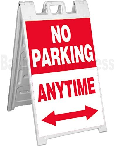 4 Less CO Signicade A-Frame Sign Sidewalk Pavement Sign No Parking Anytime rb