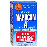 Alcon Naphcon-A Allergy Relief Eye Drops, 0.5-Ounce Bottles (Pack of 2) by Alcon