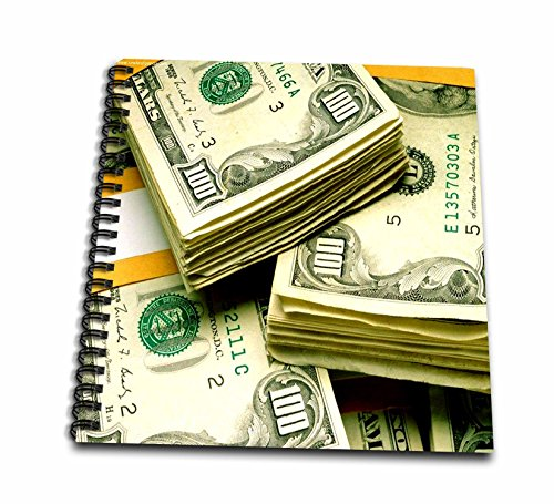 Dollar Notepad - 3dRose db_5774_1 Money One Hundred Dollars-Drawing Book, 8 by 8-Inch