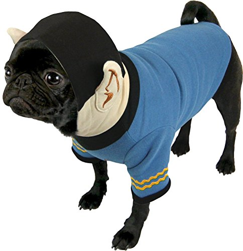 Star Trek Spock Dog Hoodie - Fits any size dog Sm - Plush Embroidered Ears and Sweatshirt Material]()