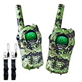 OuterStar Durable Walkie Talkies for Kids,22 Channel FRS/GMRS 5 Miles Long Range Two Way Radios with 2 Free Straps£¬ Back-lit LCD Screen/Handheld for Kids/Families Toys, Games, Gifts(Green Camouflage)