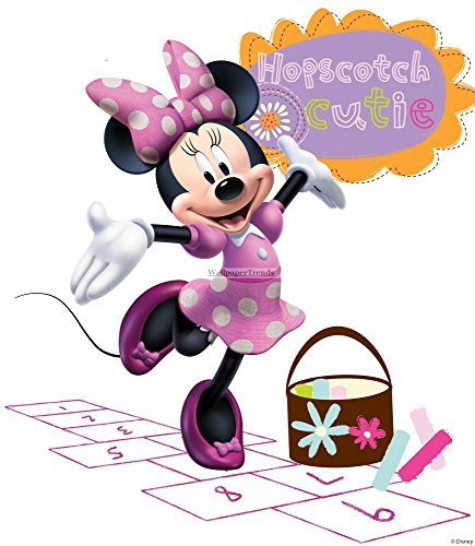 Minnie Wallpapers Mouse (10 Inch MINNIE MOUSE BOW Mickey Removable Wall Decal Sticker Art Disney Home Decor 9 inches wide by 10 inches tall)