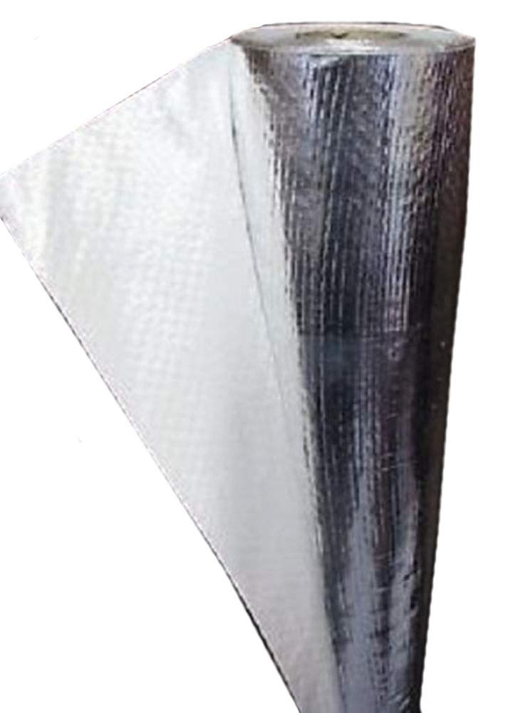 500 sqft (2ft x250ft) of NASA TECH Commercial Grade SOLID White One Side Non Perforated No Tear Green Energy Radiant Barrier Reflective Insulation Attic Foil Roof Attic House Wrap SCIF RIFD