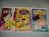 Walt Disney VHS Tapes Pocahontas - Mulan - Hunchback of Notre Dame