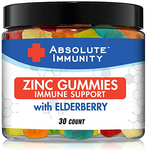 Absolute Immunity- ZINC and Elderberry Gummies – Immune System Health – Adults and Kids 30ct