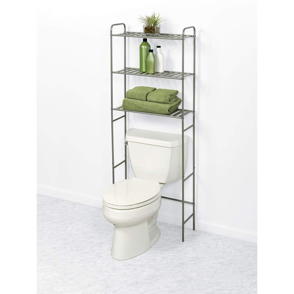 W Over-The-Toilet Bathroom Space Saver in Satin Nickel Glacier Bay 2265NNHD 22.8 in