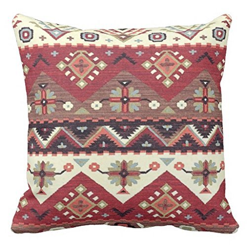 Zhiqing Western Southwest Motif Tribal Pattern Decorative Square Throw Pillow Covers 24