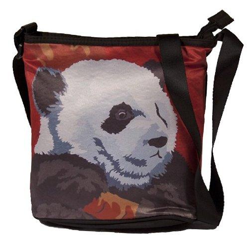 Support Read Wearable Panda Paintings Art Original Panda Large Wildlife Vegan From Body Pensive How Bag Cross Conservation My wqxnvASOx